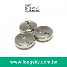 (#B4883) square sewing hole round classic shiny silver suit button