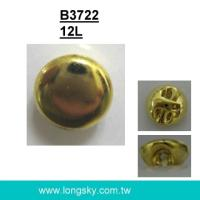 (#B3722/12L) gold small shank button for blouse