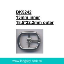 Square small belt buckle with prong (#BK5242/13mm inner)