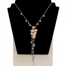 Classic Glass Bead Long Necklace N708
