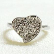Pave CZ Heart Ring